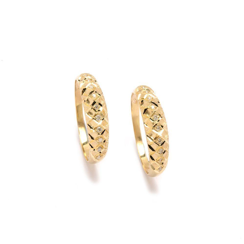 Aparador Favo Diamantes em Ouro 18 Kilates - 20212