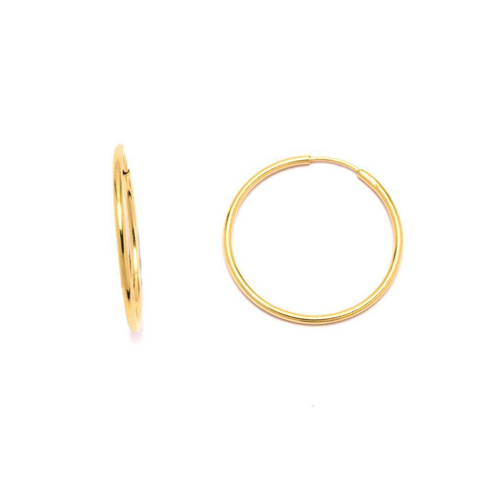 Brinco Argola Pequena em Ouro 18 Kilates - 20836