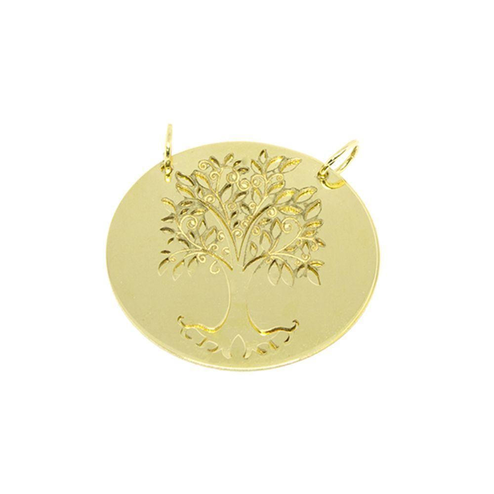 Pingente Mandala Árvore da Vida Dupla em Ouro 18 Kilates - 25129 ... 5ad8c0f430